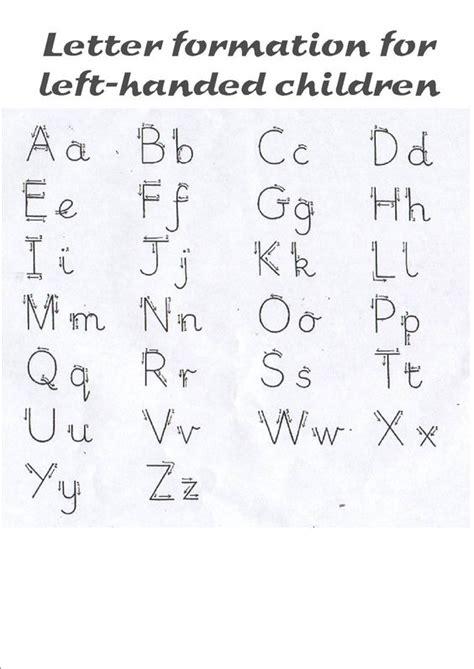 letter formation  left handed children kids school