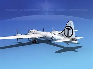 Boeing B-29 Superfortress Mermaid Maryanne 3D Model rigged