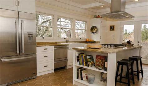 mission style kitchen island craftsman kitchen countertop vashon island wa granite 7539