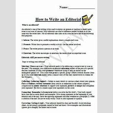 How To Write An Editorial By Kerri Wall  Teachers Pay Teachers