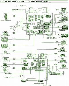2001 Toyota Sienna Central Junction Fuse Box Diagram