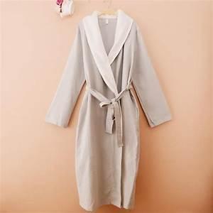 robe de chambre nid d39abeille coton ete femme grise With robe de chambre coton femme