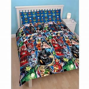 JUSTICE LEAGUE DOUBLE DUVET COVER SUPERMAN BATMAN WONDER ...