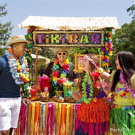 Tiki Bar Hut City by Totally Tiki Luau Ideas City