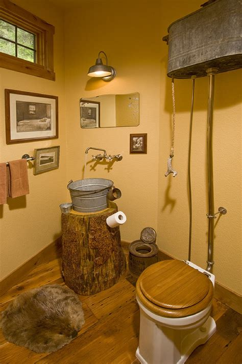 bathroom decor 25 rustic bathroom vanities to make your bathroom look Cabin
