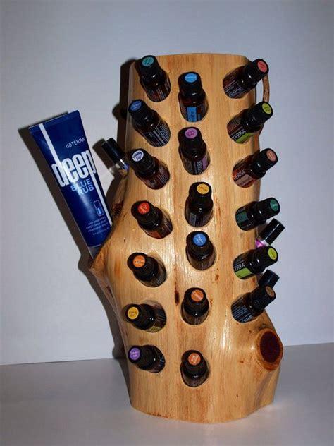 large rustic cedar essential oil display
