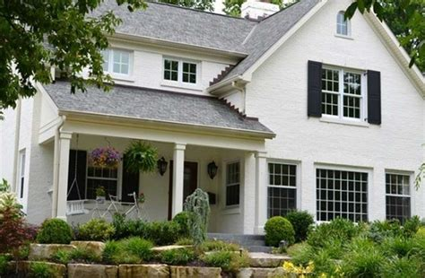 how to paint a brick house with warm white paint color