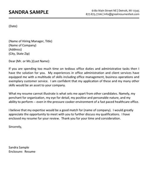 Cover Letter Sle Administrative Assistant by Administrative Assistant Cover Letter Exle Cover
