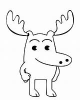 Moose Pages Coloring Printable Head Template Cartoon Realistic Christmas Easy Draw Getcoloringpages Deer Bestcoloringpagesforkids sketch template