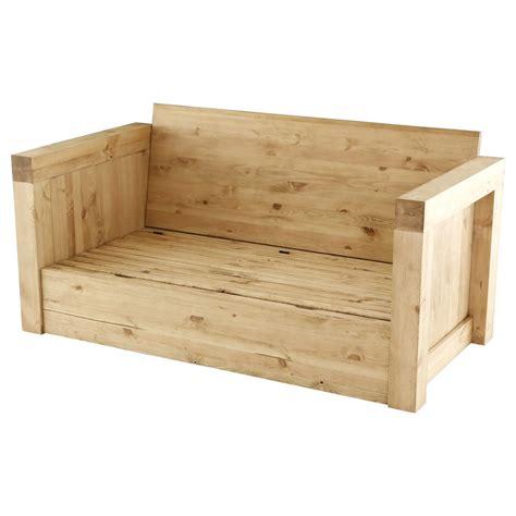 canapé chauffant canapé 2 places microfibre beige et bois massif avec