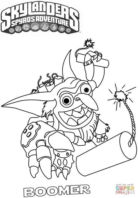 Kleurplaat Boomer Hondje by Skylanders Spyro S Adventure Boomer Coloring Page Free