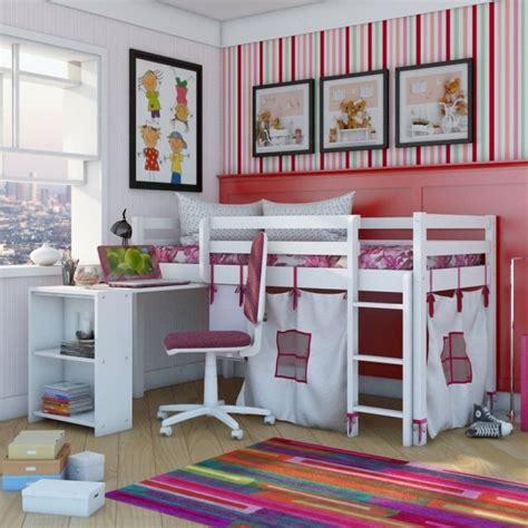 chambre fille petit espace lit mezzanine enfant 25 belles idées gain d 39 espace