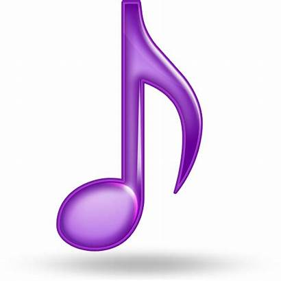 Note Purple Icon Musical Icons Notes Glossy