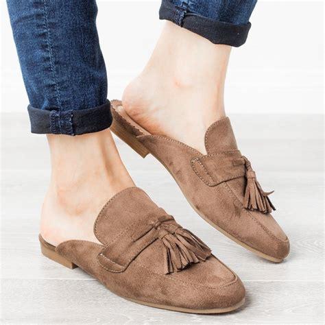 Mules Frea Mocha tasseled loafer mules refresh shoes fay 03 shoetopia
