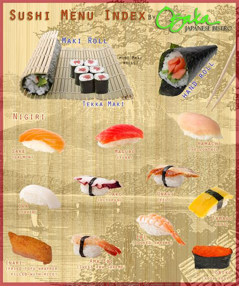 beginners guide   sushi menu osaka las vegas