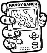 Coloring Games Computer Playing Gamer Nintendo Handy Wecoloringpage sketch template