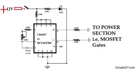 Based Squarewave Inverter Oscillator Circuits Diy