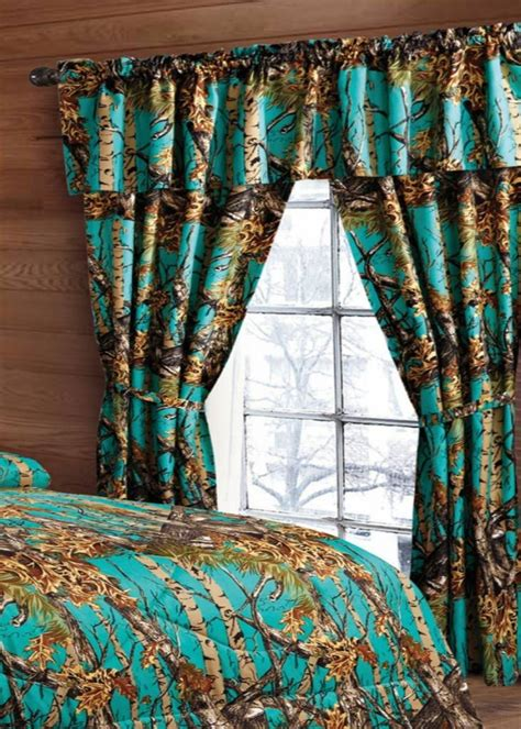 teal camo curtains the sw company