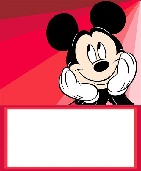 mickey mouse  printable invitation templates
