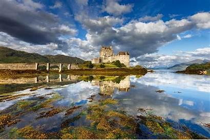 Scotland Castle Landscape Donan Bridge Eilean Nature