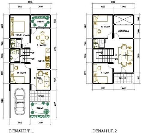 contoh rumah minimalis type   lantai modern beserta