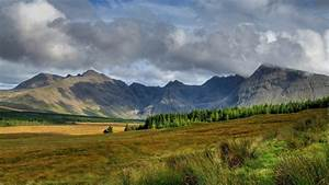 Wallpaper, Scotland, Scenery, Sky, Clouds, Mountains, Slope