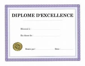 Temps De Garde Des Papiers : imprimer diplome d 39 excellence etudes scolaires vierge a personnaliser ducation pinterest ~ Gottalentnigeria.com Avis de Voitures