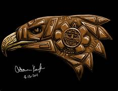 Aztec Eagle Warrior Drawing Aztec Eagle Warrior Skull  Aztec Eagle Warrior Drawing