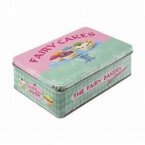Boite A Gateau Metal : bo te en m tal plate vintage fairy cakes petits g teaux ~ Teatrodelosmanantiales.com Idées de Décoration
