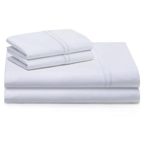 woven supima premium cotton sheet set white full
