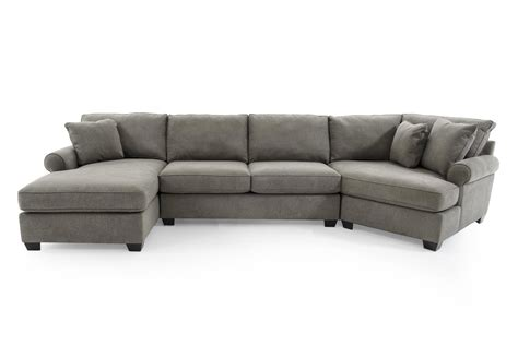 Home Sectional Sofa by Max Home 9ba5 A Chl Saa Ccr Gray Casual Three