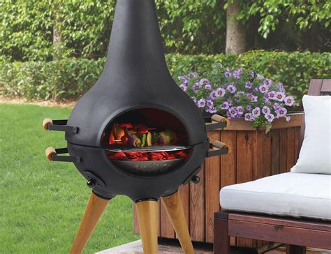what is a chiminea used for transforming hinged chiminea grill 187 gadget flow