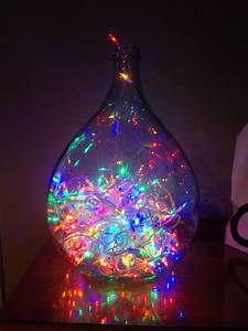 Christmas, Lights, Inside, A, Glass, Bottle, Perfect, For, Unused, Christmas, Lights