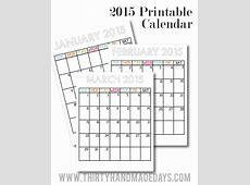Free printable 2015 Calendars Skip To My Lou