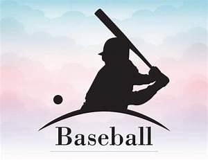 Baseball player SVG Baseball vector design for silhouette ...