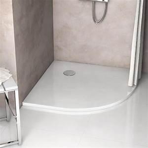 Quart De Rond Blanc : receveur de douche quart de rond brillant 100x100 cm arone ~ Dailycaller-alerts.com Idées de Décoration