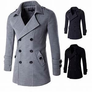 Trench Coat Homme Long : popular leather trenchcoats buy cheap leather trenchcoats ~ Nature-et-papiers.com Idées de Décoration