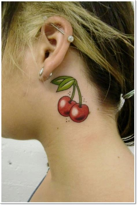 top  cute cherry tattoos  girls