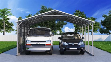 two car carport 20x21 two car metal carport