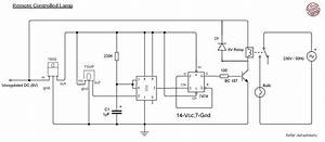 Remote Control Light Circuit Diagram Using 555 Timer