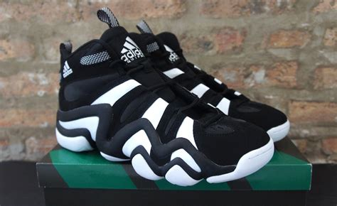 adidas crazy  retro sneaker black white soleracks