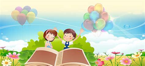 Cartoon Childrens Education School Background, Cartoon