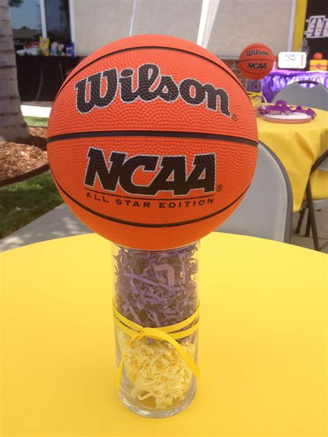 centerpiece   lakers theme party lakers theme
