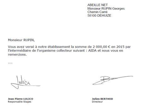 modele lettre collecte taxe d apprentissage les signatures pour le publipostage kol taxe logiciel de
