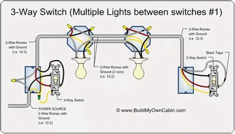 Way Switch Multiple Lights Between Switches