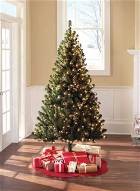 walmart pre lit 6 5 colorado pine tree clear lights only 39 00 shipped - Christmas Tree With Lights Walmart