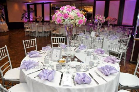 Lilac Decorations Wedding Tables - lilac and pink wedding theme centerpieces made with