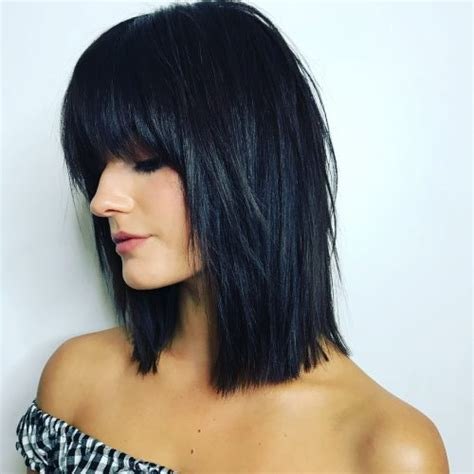 Black Hairstyles With Bangs And Layers by 51 Stunning Medium Layered Haircuts Updated For 2018
