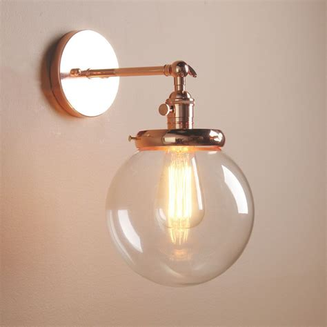 vintage industrial wall l antique sconce globe glass