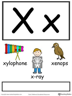 letter x alphabet flash cards for preschoolers 651 | Alphabet Flashcards For Preschooler Letter X Color